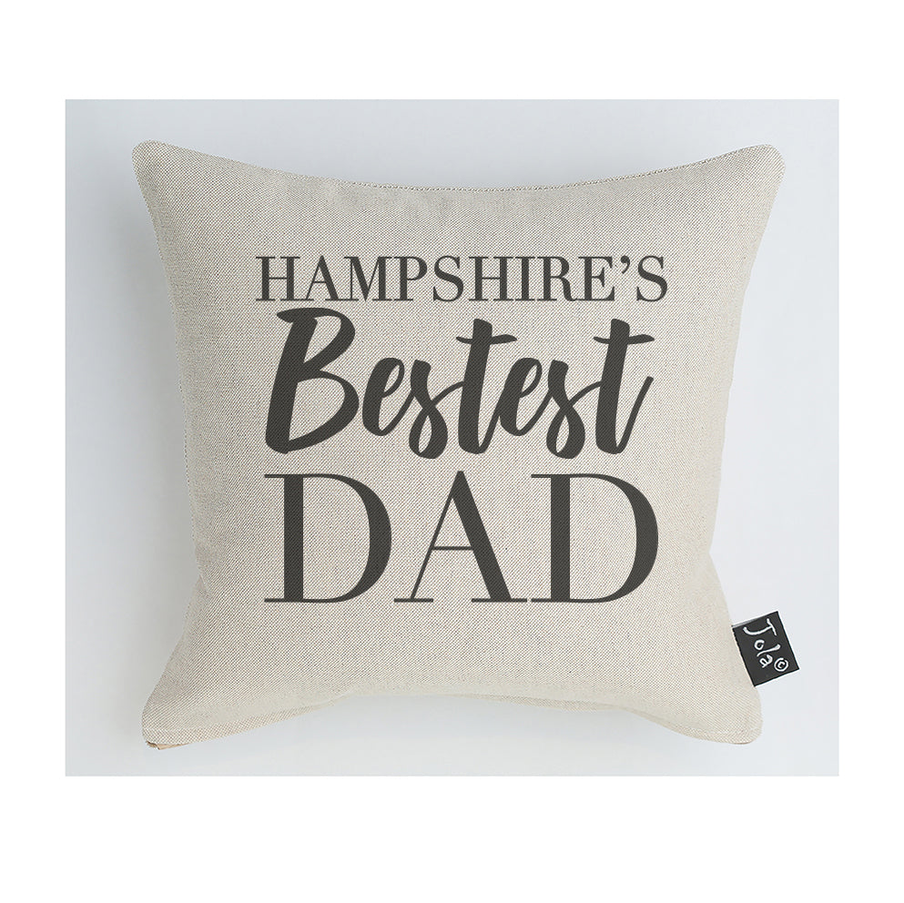 Personalised Bestest Dad City  cushion