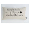 Personalised Happiness dog cushion