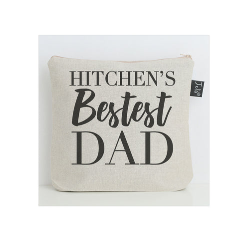 Personalised Bestest Dad city wash bag