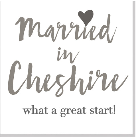 Personalised Married in City square card