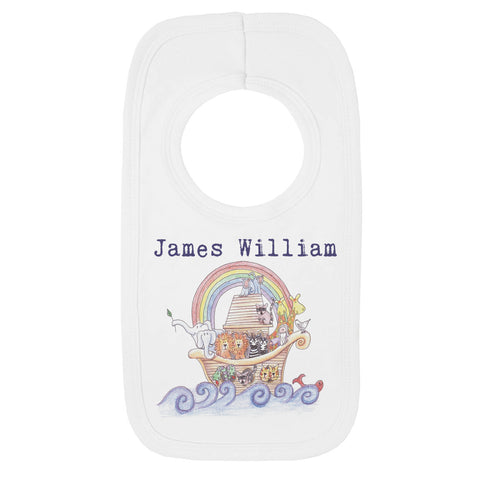 Personalised Noah's Ark Bib