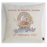 Personalised Noah's Ark Baby Cushion