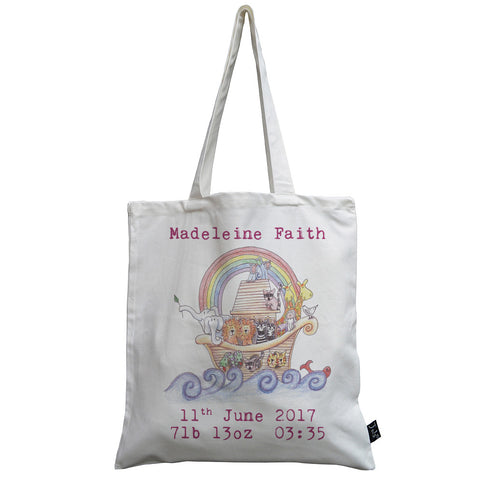 Personalised Noah's Ark canvas bag