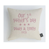 Personalised Our 1st Father's Day Cushion