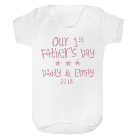 Personalised 1st Father's Day Baby Vest