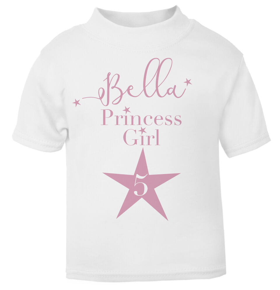 Personalised Star Age Toddler T Shirt Pink