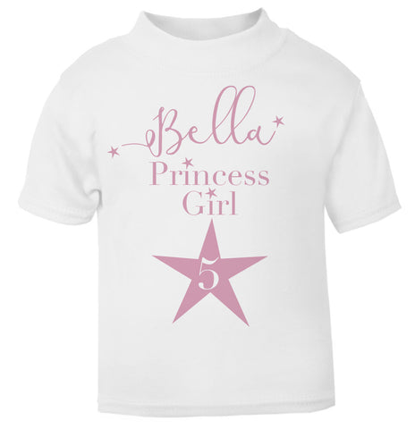 Personalised Star T Shirt pink