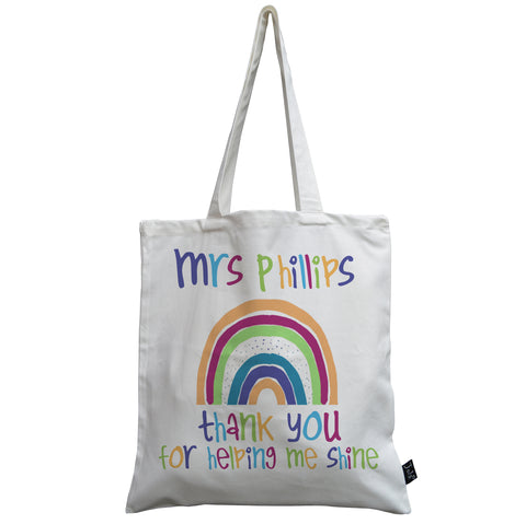 Personalised Rainbow canvas bag