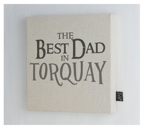 Personalised Best Dad Canvas Frame