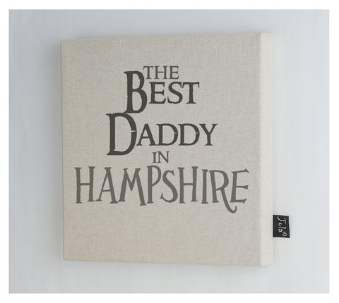 Personalised Best Daddy Canvas Frame
