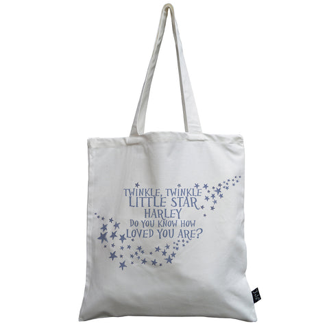 Canvas Shopping Tote Bag Twinkle Little Star Do You Know How Loved Are Beach for Women