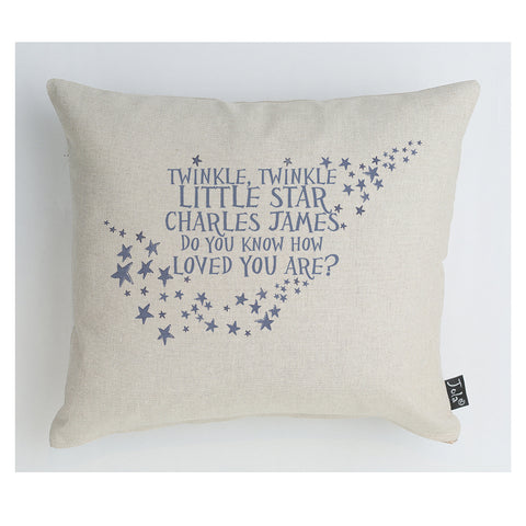 Personalised Twinkle Baby Cushion