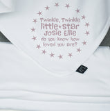 Twinkle personalised blanket