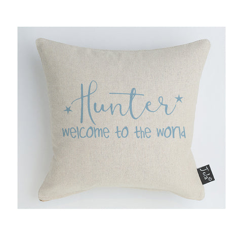 Personalised welcome to the world Baby Cushion