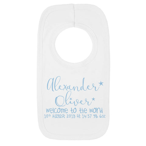 Personalised welcome to the world Baby Bib