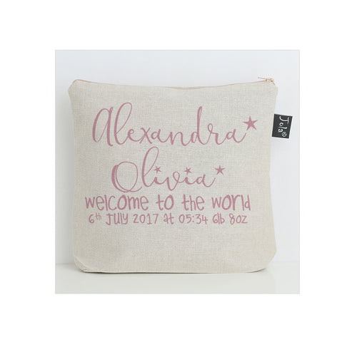 Personalised welcome to the world Baby Nappy Bag