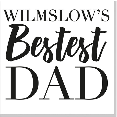 Personalised Bestest Dad City square card