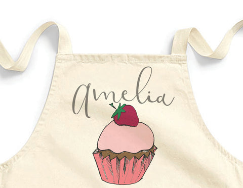 Personalised cupcake Mini Apron