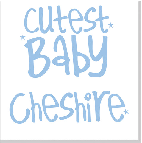 Personalised Cutest Baby city card