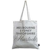 Personalised Sparkle City canvas bag