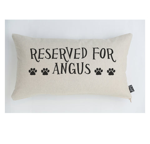 Personalised Paw Print reserved for cushion