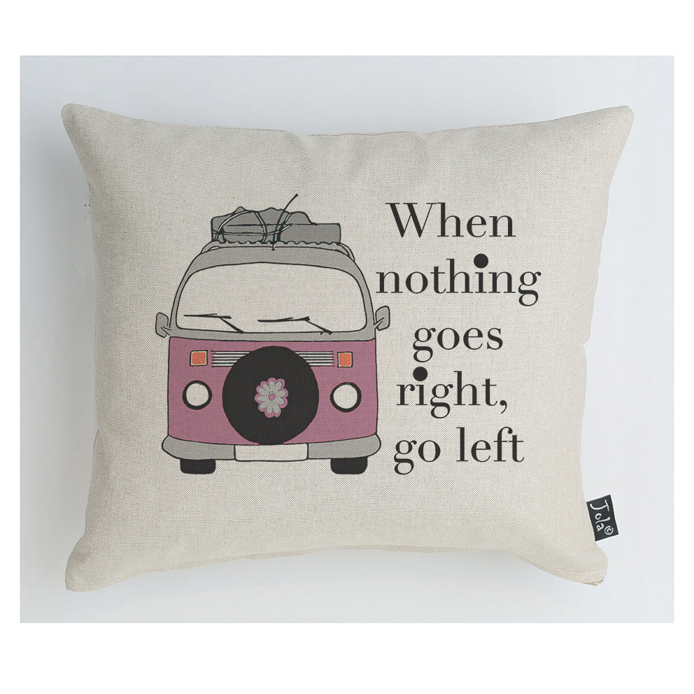 Pink camper van go left cushion