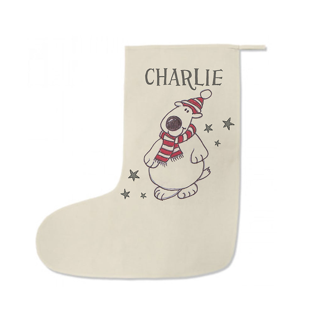 Christmas stocking personalised Polar Bear