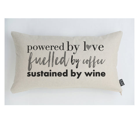Powered by Love cushion