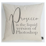 Prosecco Photoshop cushion