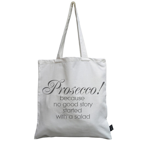 Prosecco salad canvas bag