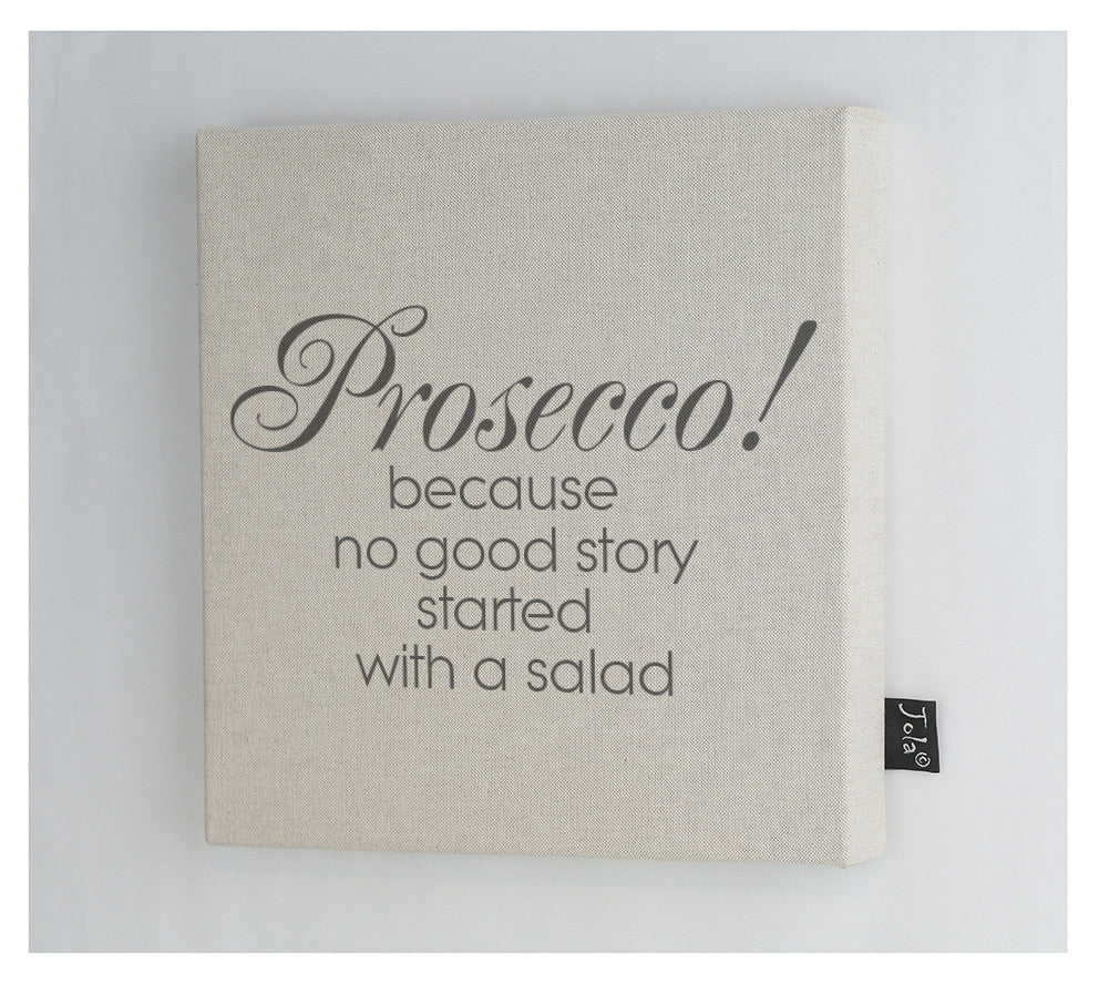 Prosecco salad canvas frame