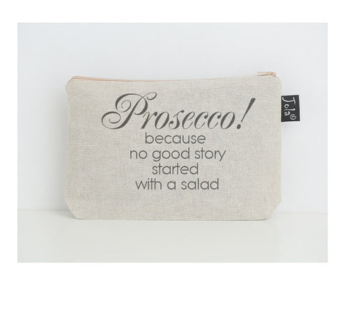 Prosecco salad small make up bag