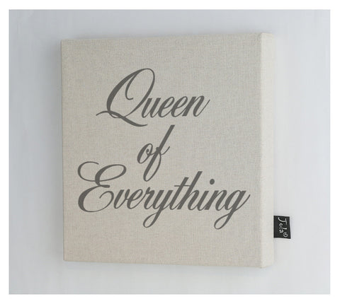 Queen of Everything canvas frame