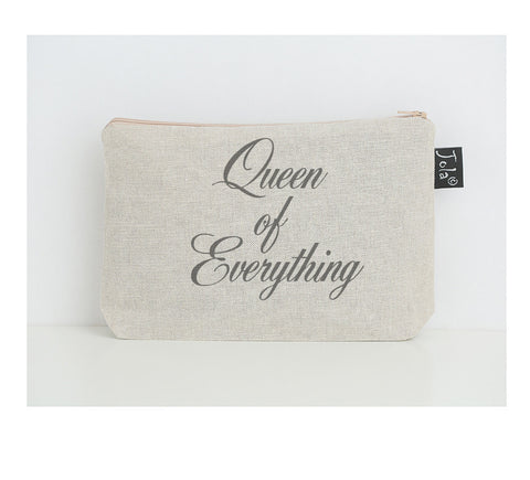 Queen of Everything small make up bag