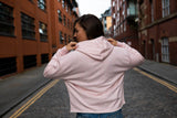 Limited Edition Pink Gin & Gym cropped Marl Hoodie