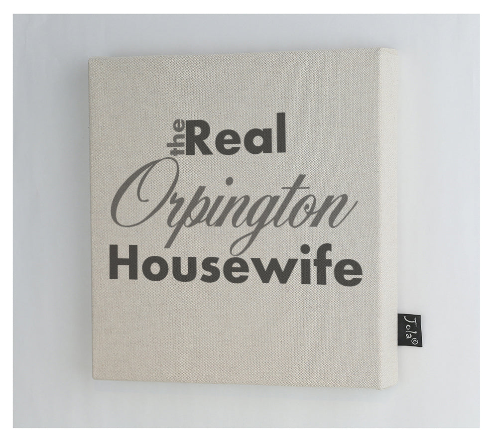 Personalised Real Housewife Canvas Frame
