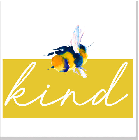 Bee Kind bright  square card