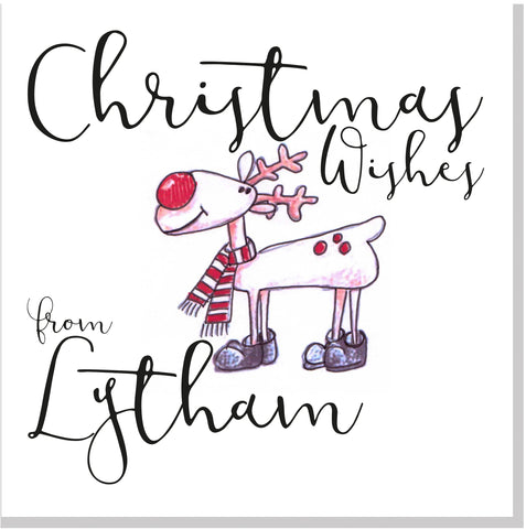 Christmas City Reindeer personalised card