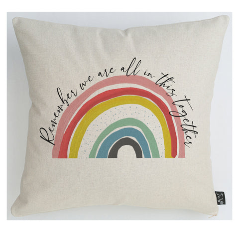 Rainbow In This Together cushion