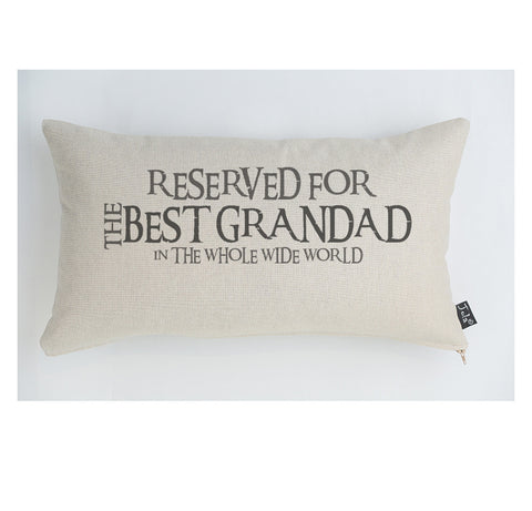 Reserved for the best Grandad cushion