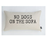 Retro No Dogs on the sofa cushion