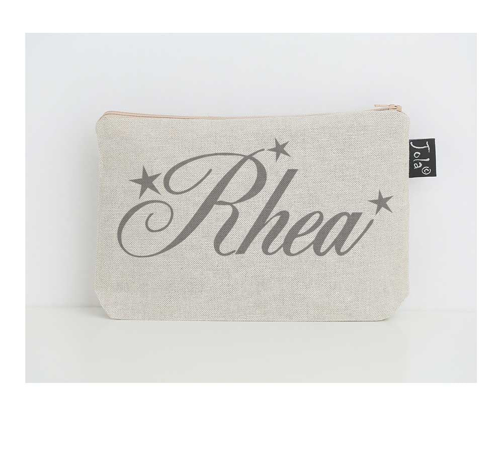 Personalised name small make up bag