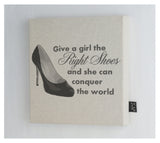 The Right Shoes Canvas