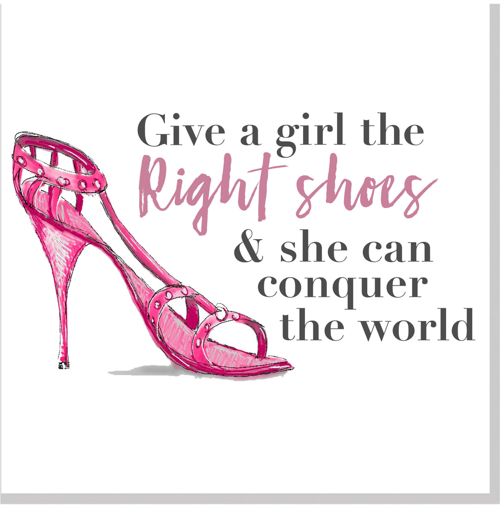 Right shoes square card pink