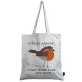 Robins Appear canvas bag