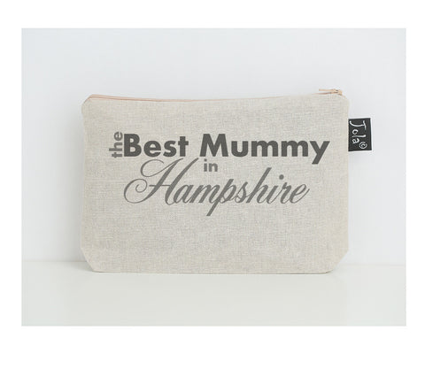 Personalised Best Mummy City small Make up bag