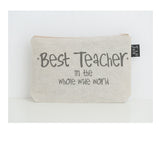 Best Teacher star small make up bag