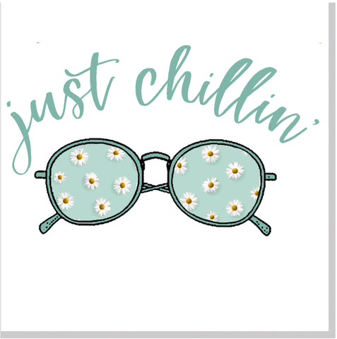 Just Chillin' sunglasses  square card