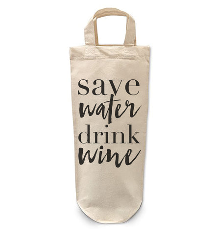Save water drink wine Bottle Bag