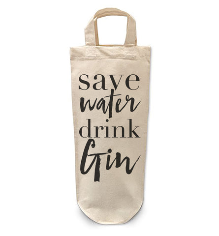 Save water drink gin Bottle Bag